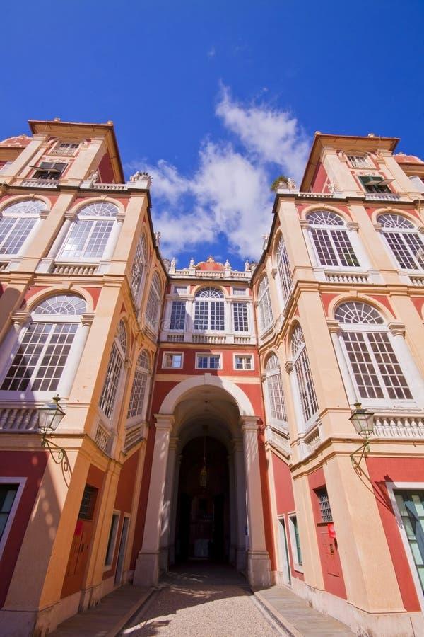 Royal Palace em Genoa, Itália imagem de stock