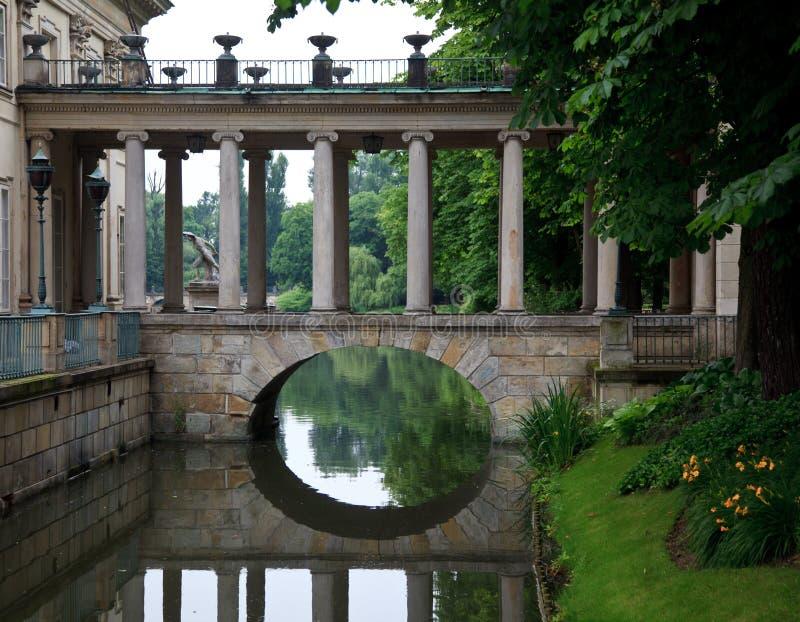 Royal Palace em Lazienki estaciona fotos de stock royalty free