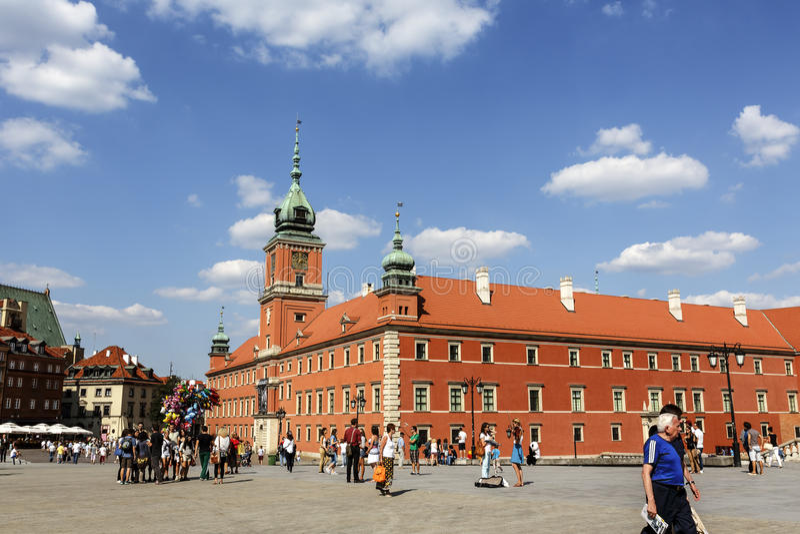 Royal Palace em Varsóvia, Polônia imagens de stock