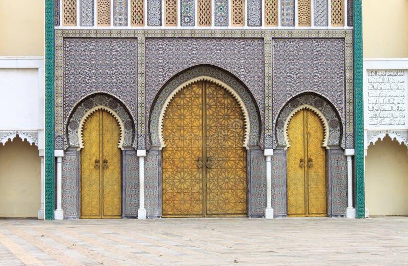 Royal Palace en Fes fotografía de archivo libre de regalías