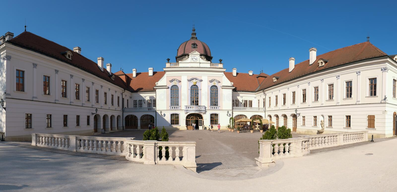 Royal Palace en Godollo, Hungría imagen de archivo libre de regalías
