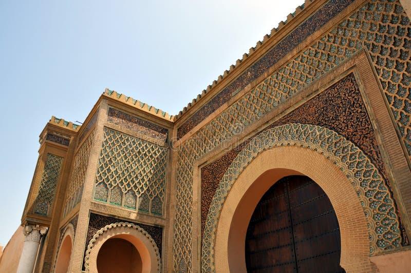 Royal Palace en Meknes Marruecos imagen de archivo