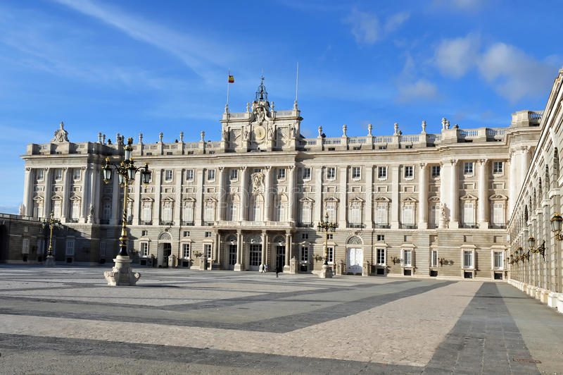 Royal Palace espanhol em Madrid Spain fotos de stock