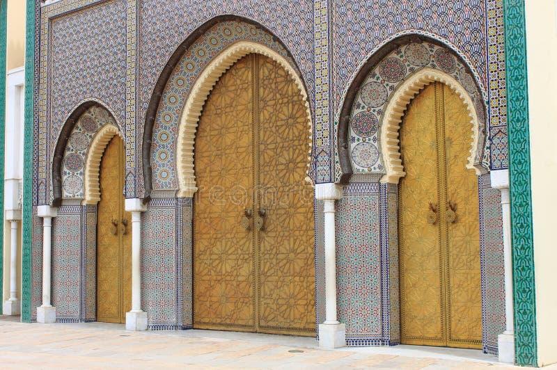 Royal Palace in Fes lizenzfreie stockfotografie