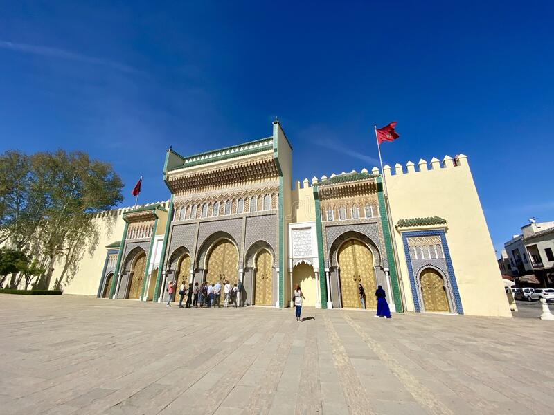 Royal Palace in Fes, Morocco stock photo