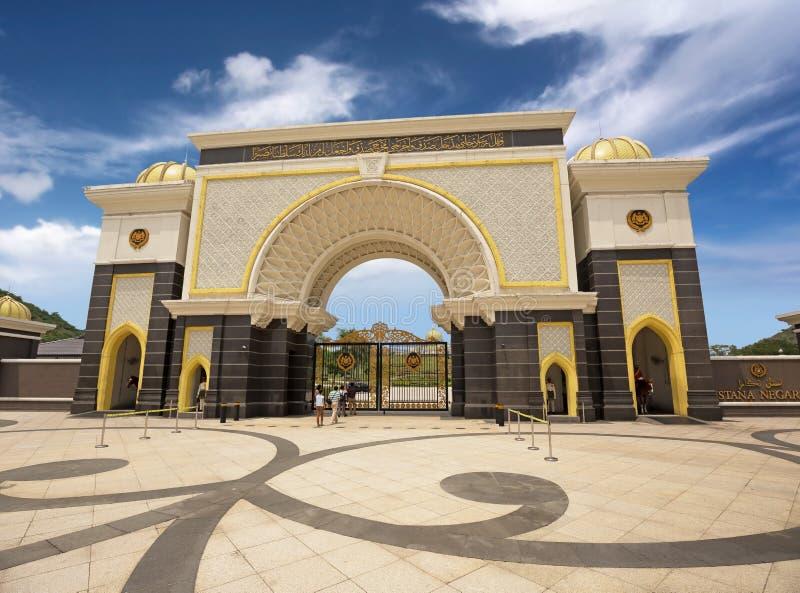 Royal palace gate stock photo