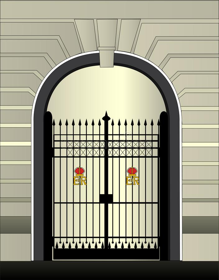 Royal Palace Gate stock illustration