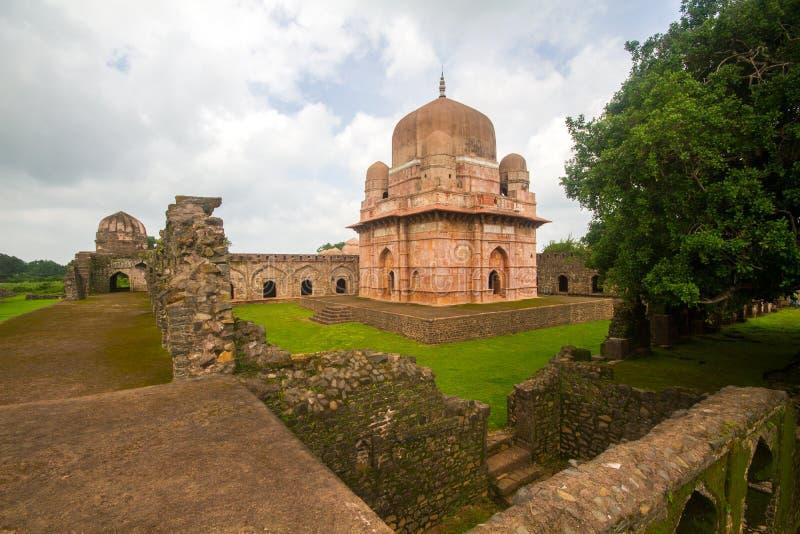 Royal Palace histórico na Índia de Mandu fotos de stock