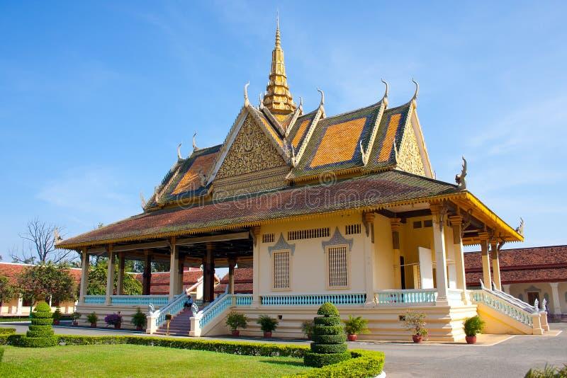 Royal palace house in Phnom Penh royalty free stock photo