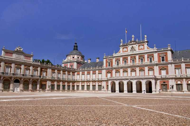 Royal Palace i Aranjuez, Spanien arkivbild