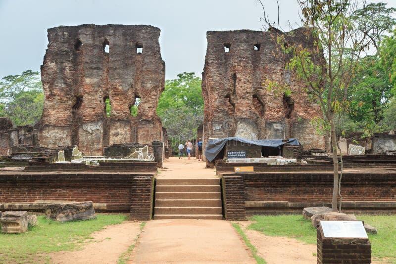 Royal Palace of King Parakumba 1 - Polonnaruwa - Sri Lanka royalty free stock photo
