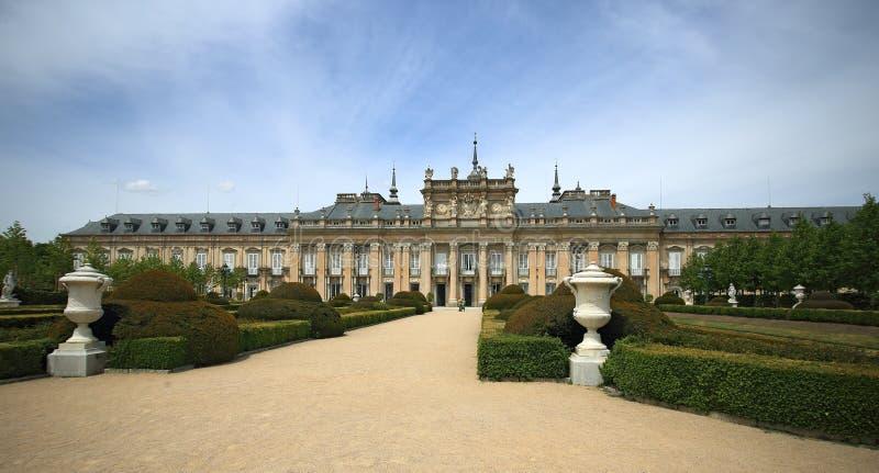 Royal Palace at La Granja de San Ildefonso in Segovia province, Spain royalty free stock photos
