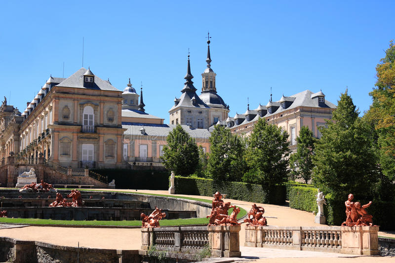 Royal Palace of La Granja de San Ildefonso (Spain) royalty free stock photos