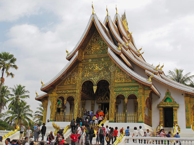 Royal Palace - Luang Prabang, Λάος στοκ φωτογραφία