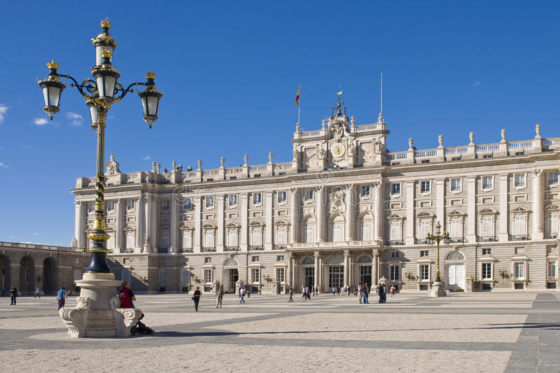 Royal palace in Madrid. Spain royalty free stock photography