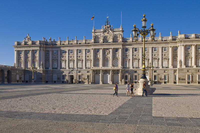 Royal palace in Madrid royalty free stock image