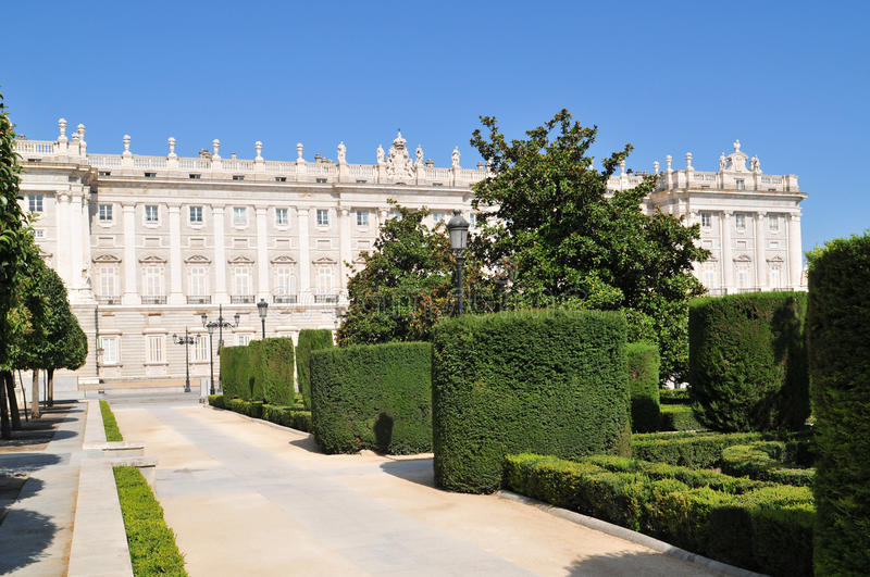 Download Royal Palace of Madrid stock image. Image of tree, building - 22253399
