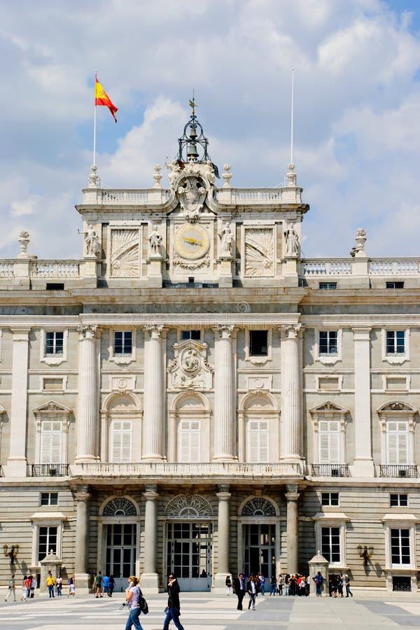 Royal palace, Madrid royalty free stock photos
