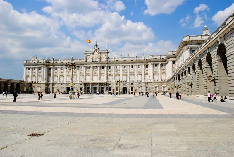 Royal palace, Madrid royalty free stock image