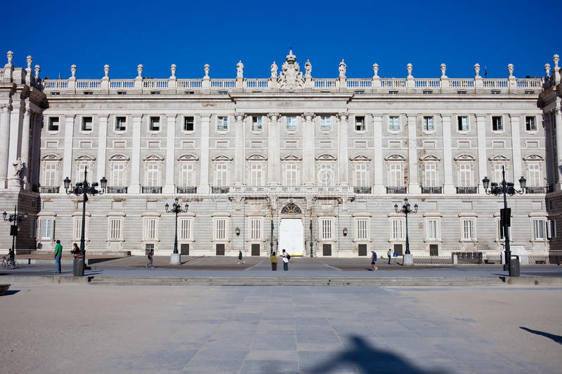 Royal Palace in Madrid stock fotografie