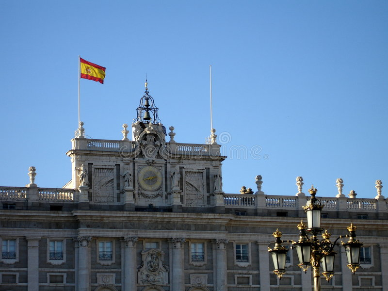 Royal Palace in Madrid stockfoto