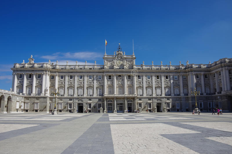 The Royal Palace in Madrid City. Sunny summer day. Spain royalty free stock image