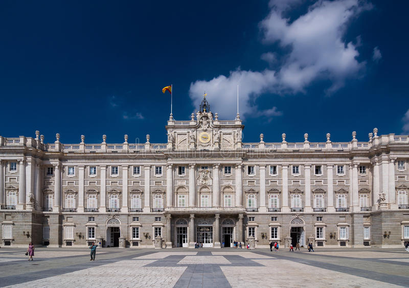 The Royal Palace of Madrid (Palacio Real de Madrid). The Royal Palace of Madrid (Palacio Real de Madrid) is the official residence of the Spanish Royal Family royalty free stock photo