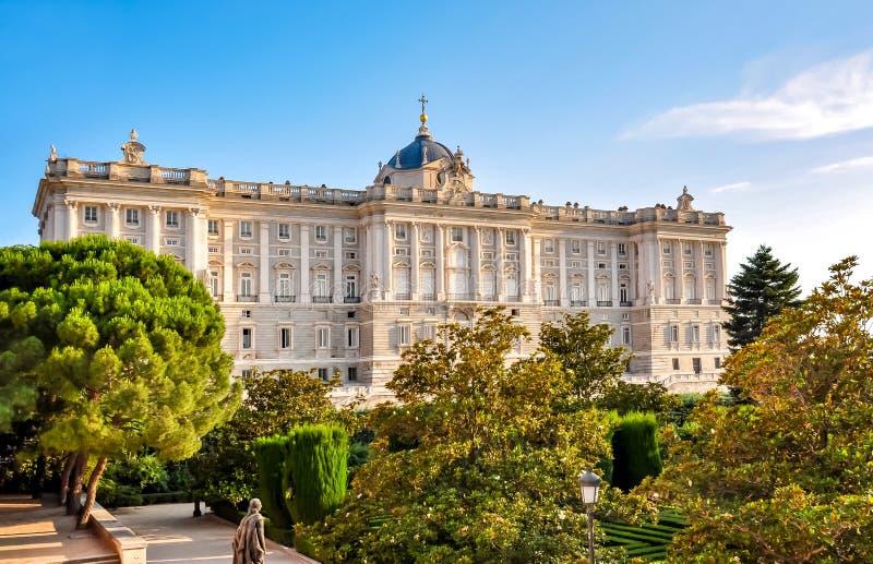 Royal Palace of Madrid, Spain royalty free stock photos
