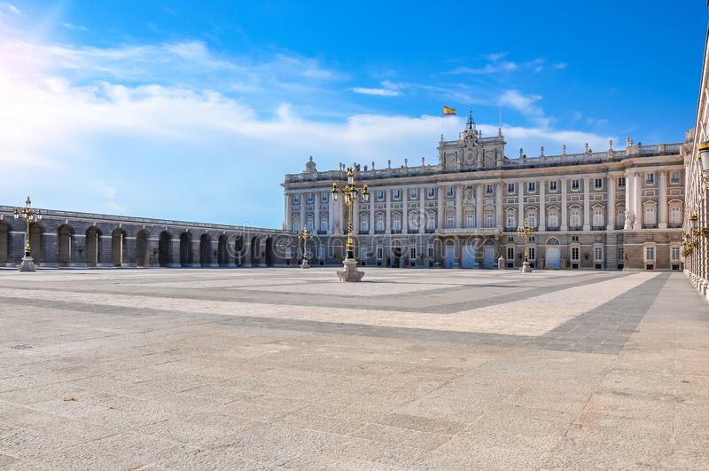 Royal palace in Madrid, Spain stock photos