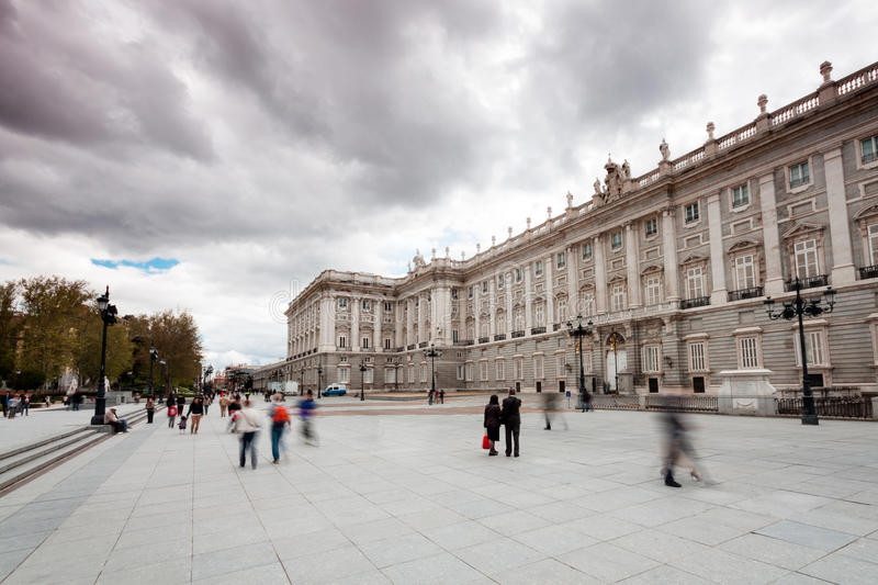 The Royal Palace In Madrid (Spain) Stock Images