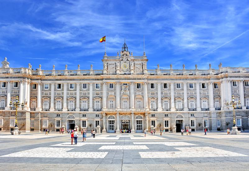 Royal Palace Madrid Spain royalty free stock image