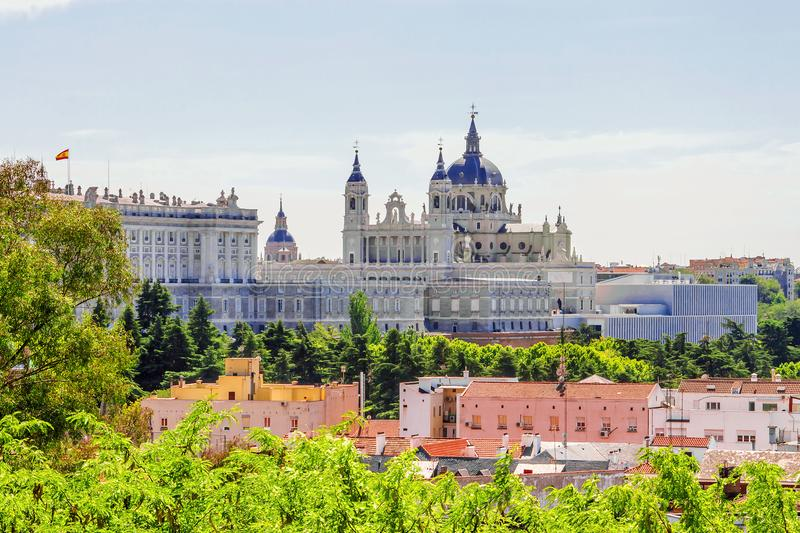 Royal Palace in Madrid, Spain.  royalty free stock photography