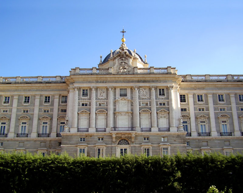 Royal Palace, Madrid, Spanje royalty-vrije stock afbeelding