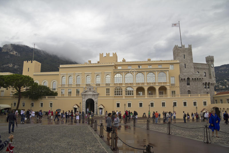 Royal palace in Monaco. The King's palace in the city of Monaco royalty free stock photography