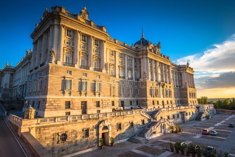 Royal Palace, monumento famoso de la ciudad de Madrid fotografía de archivo