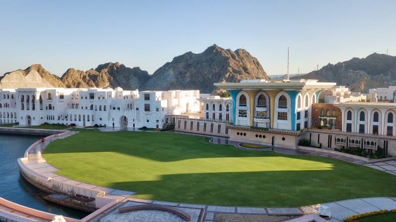 Royal Palace, Muscateldruif, Oman stock fotografie