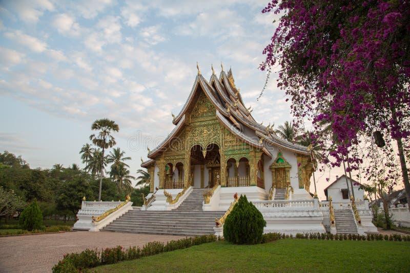 Royal Palace Museum Temple at Luang Prabang, Laos royalty free stock photography
