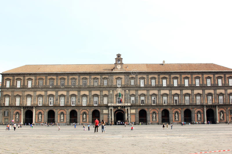 The Royal Palace of Naples, Italy royalty free stock photography