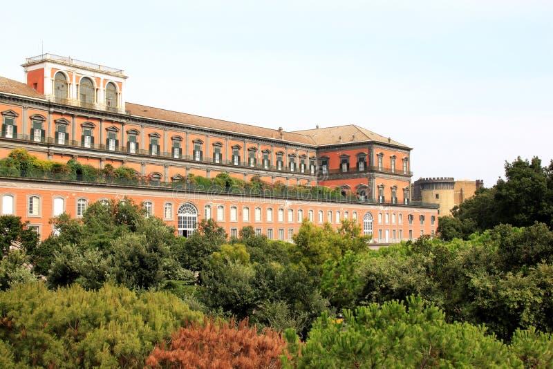 Royal Palace Naples w Włochy zdjęcia royalty free