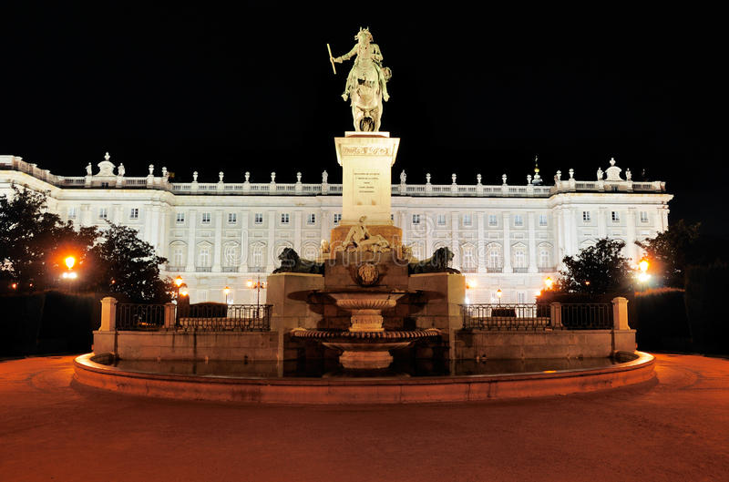 Download Royal Palace By Night, Madrid, Spain Stock Photo - Image: 28051042
