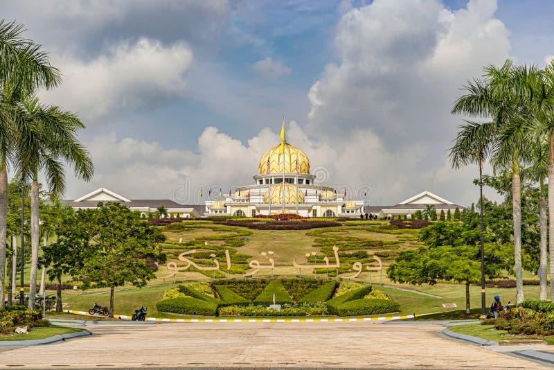 Royal Palace novo Istana Negara em Kuala Lumpur, Malásia foto de stock royalty free