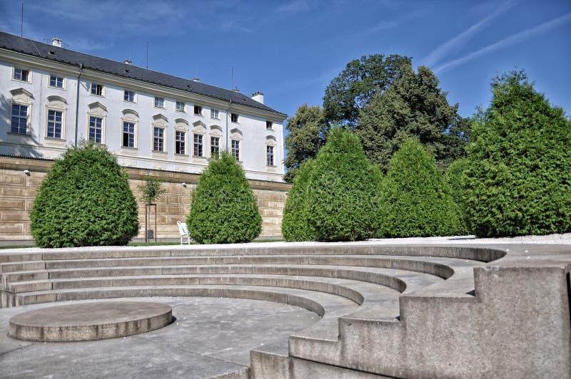 Royal Palace område Prague royaltyfri bild