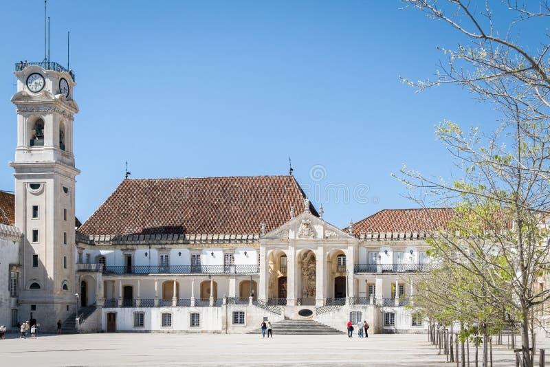 Royal Palace op de Universiteit van Coimbra, Portugal stock afbeelding