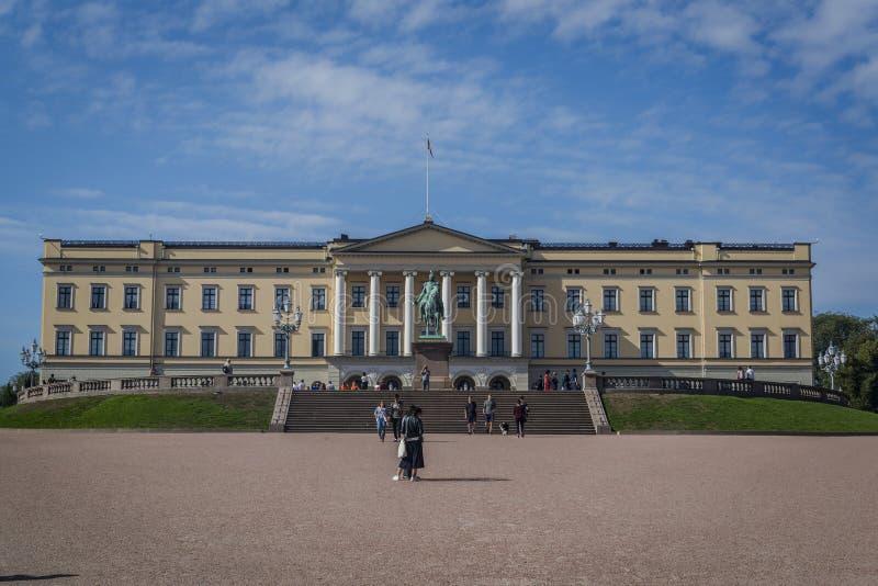 Royal Palace, Oslo, Noorwegen stock foto