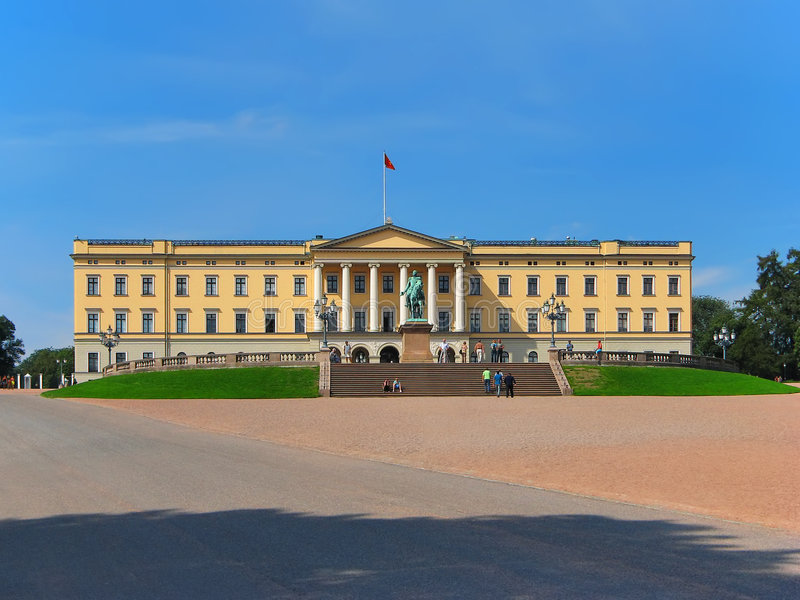 Royal Palace, Oslo, Norway royalty free stock photo