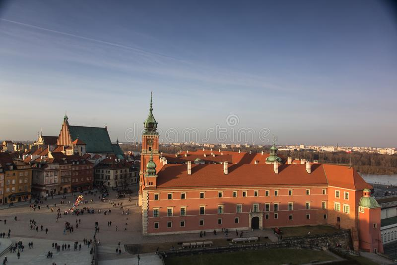 Royal Palace in Oude Stad van Warshau, Polen stock foto's