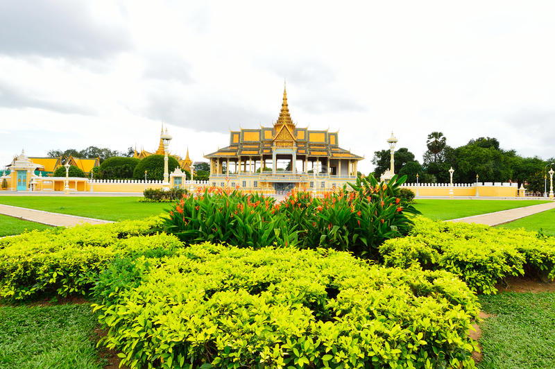 Download The Royal Palace Park, Phnom Penh, Cambodia Stock Image - Image: 39051073