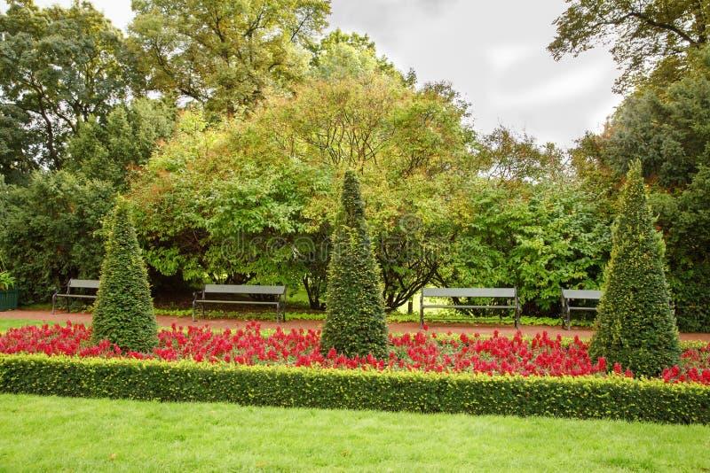 Royal Palace parkuje w Oslo zdjęcia stock