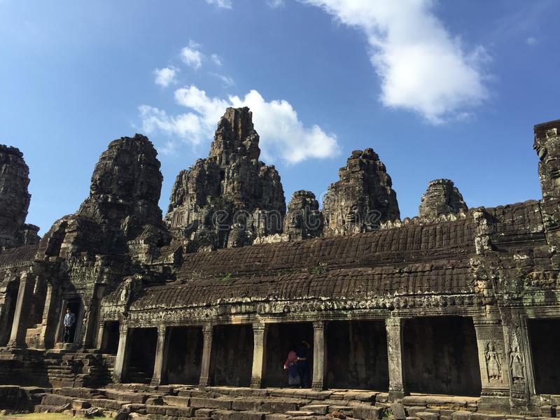 Temple at Seam Reap Province, Cambodia royalty free stock photo