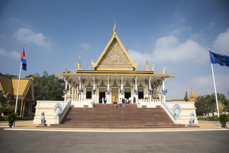 Royal Palace Phnom Penh Camboja fotografia de stock royalty free
